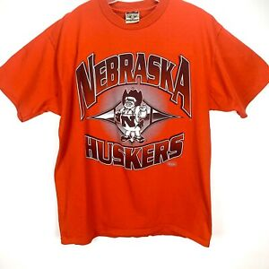 University-Nebraska-Cornhuskers-Mens-XL-Red-T-Shirt-Red-Oak-Herbie-Husker-Vtg-90