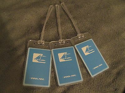 Pan Am American Airlines PAA Vintage Logo Playing Card Luggage Name Tag Tags (3)
