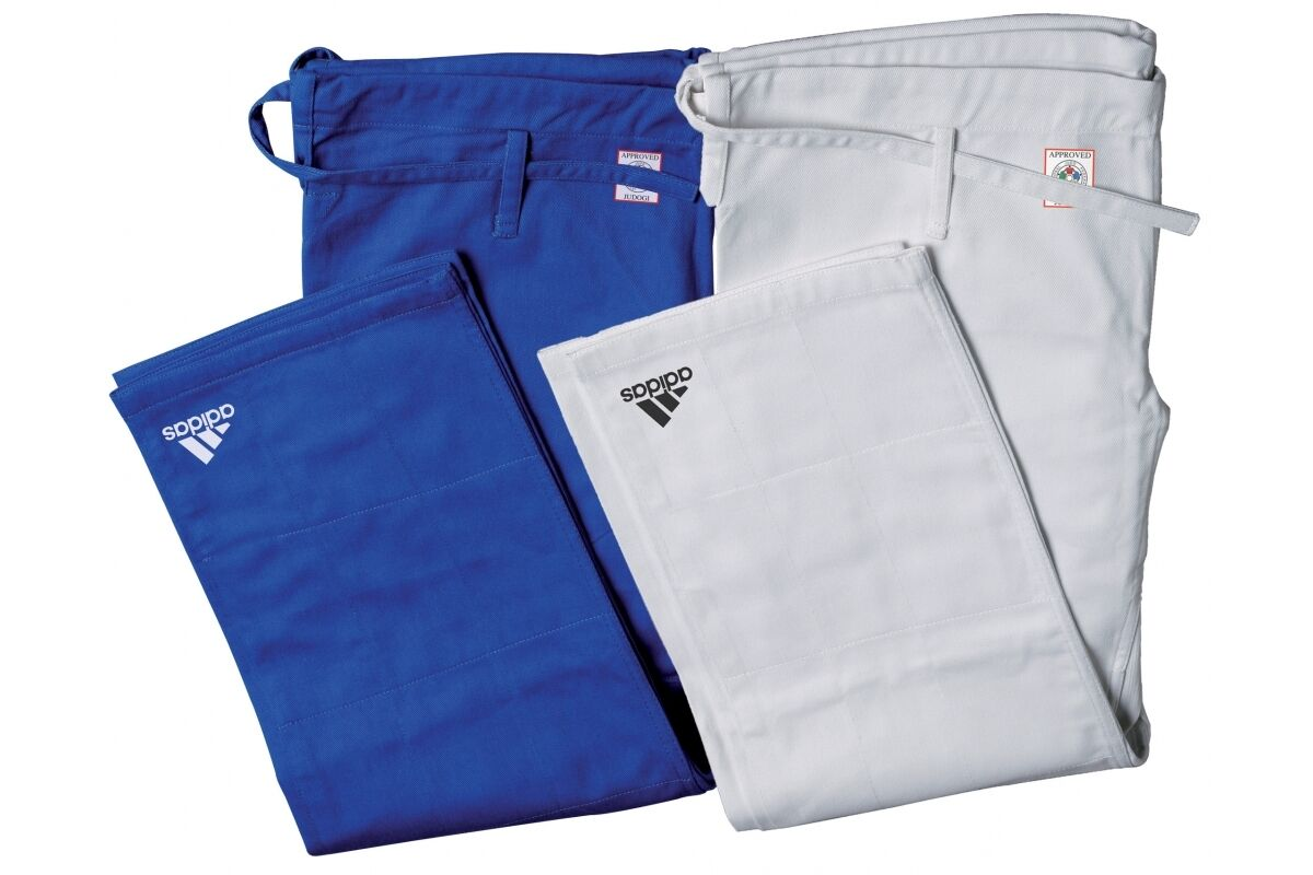 Adidas Champion II IJF Approved Judo Gi Trousers Red Label Pants bluee or White