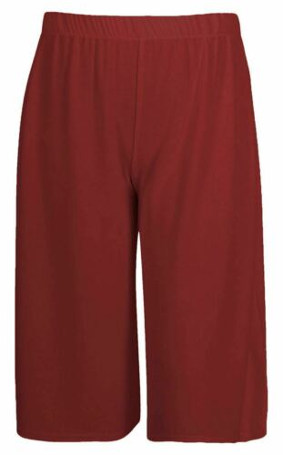 LADIES LOOSE FIT JERSEY STYLE CULOTTES CROPPED TROUSER LONG SHORTS WIDE LEG 8 20
