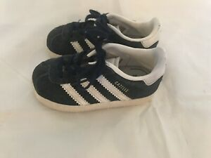 Details about Boys Infants Baby Adidas Navy Blue/White Suede Gazelle Shoes Size 5K