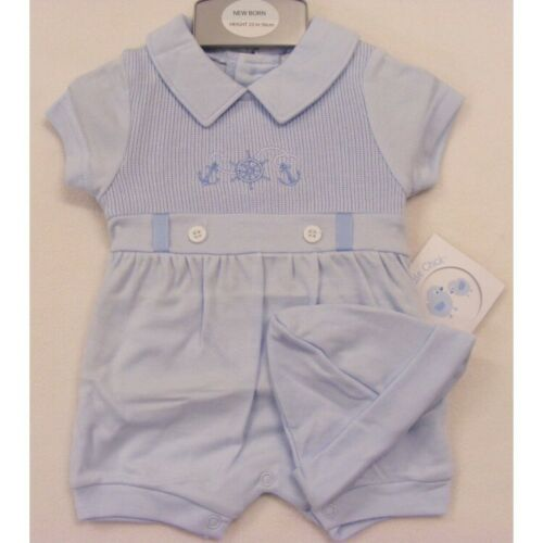 HAT OUTFIT SPANISH NEWBORN 0-3 MONTHS NEW BABY BOYS CUTE TRADITIONAL ROMPER