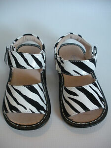 Mary Jane Style Squeaky Shoes Up to Size 7 Toddler Shoes Zebra Print