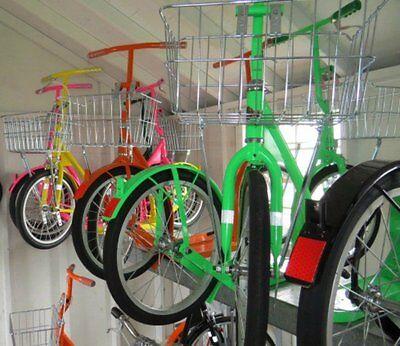 "16"" Amish Kick Foot Scooter Child Adult City Bike Racing Wheels Basket Brake"