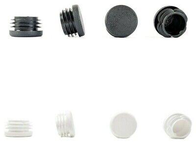 Tapas de Pl/ástico Negro, 40mm de di/ámetro, Paquete de 48 Hecho en Alemania Inserte Los Tapones Para Tubos Redondos