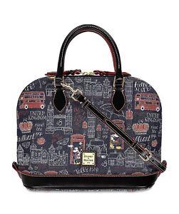 Disney Dooney & Bourke Mickey Minnie Hello Mate England Satchel Purse Bag NWT