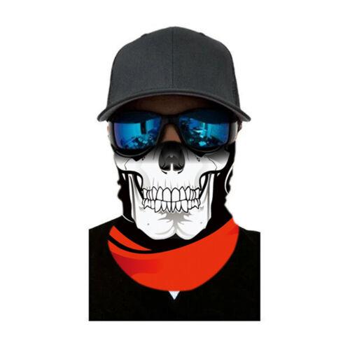 Buff Pêche Randonnée Chasse Masque Balaclava Tactique Noir Crâne Face Shield