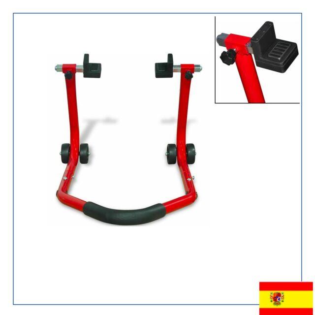 Caballete Modelo Trasero para Moto Rojo Acero Acabado Pintado 72 x 50 x 40 cm