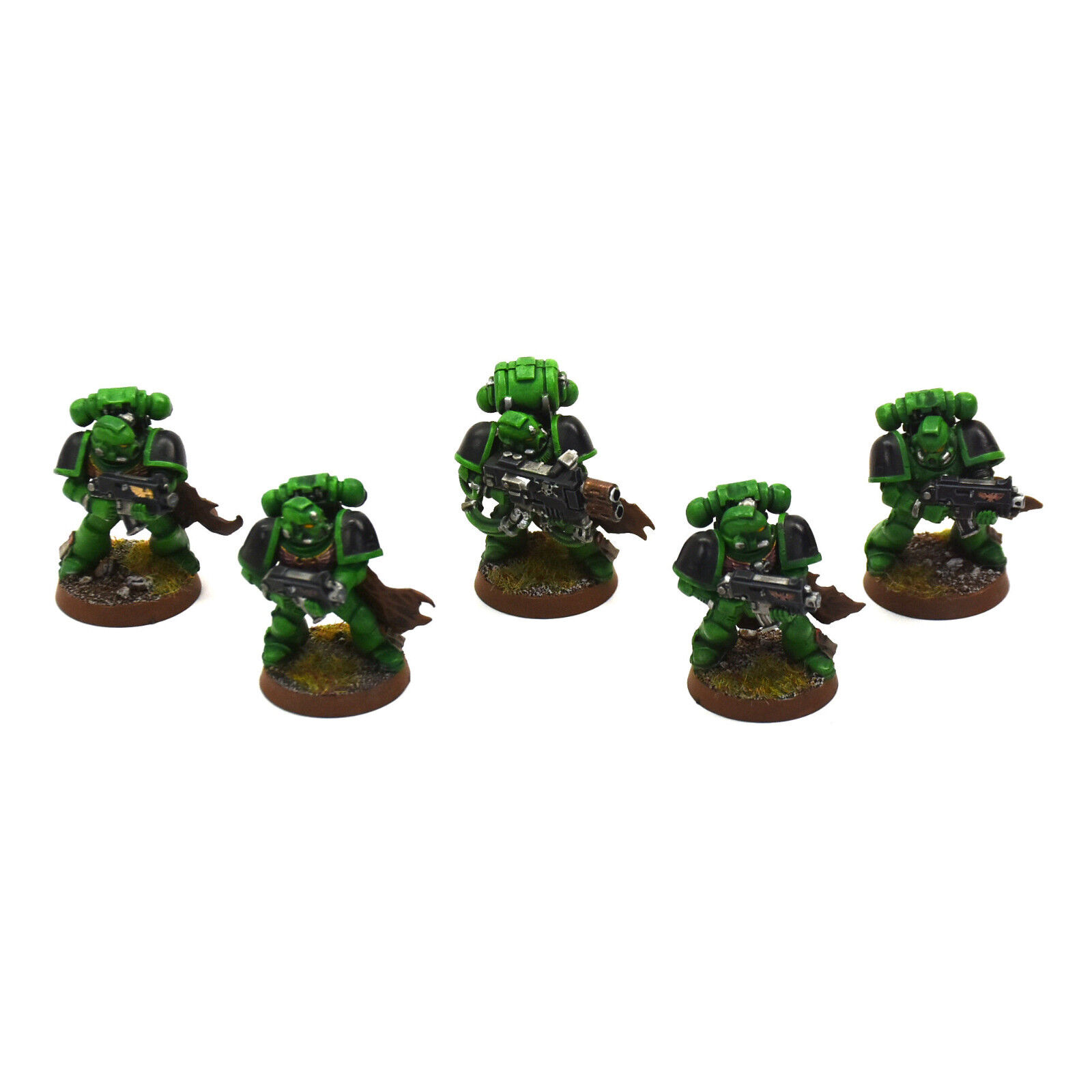 SPACE MARINES 5 tactical marines Converted   4 Salahommeders PRO PAINTED Squad 40K  prix bas 40%