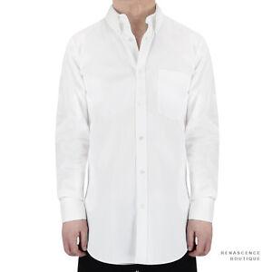 Alexander-McQueen-White-Cotton-Button-Down-Collar-Slim-Fit-Shirt-IT44-UK34