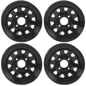 4 atvutv wheels set 12in itp delta steel black 4110 52 irs ebay image is loading 4 atv utv wheels set 12in itp delta sciox Gallery