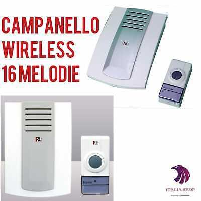 CAMPANELLO WIRELESS SENZA FILI CASA UFFICIO PORTA IMPERMEABILE DISTANZA 300 MT