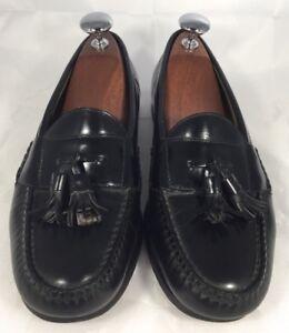 5fa97045151 Mens Cole Haan Black Leather Kiltie Tassle Moc-Toe Slip on Loafers ...