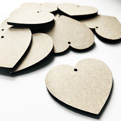 Mixed Pack Hearts And Flowers MDF Wooden Shape Embellishments Wood Craft Art