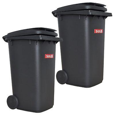 2x Sulo Mini Müllbehälter Grau Mülltonne Tischmülleimer 1:1 Abbild Von 240 Liter