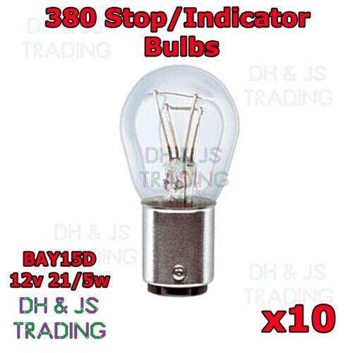 10 x 380 Rear Brake Tail Light Bulbs Car Auto Van Bulb Ford S-Max 2005-2014