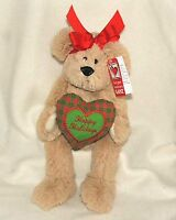 Ganz Christmas Heart Message Plush Bear See Available Messages