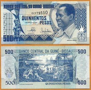 Bissau Paper Money 50 100  500 1000 Pesos UNC Guinea