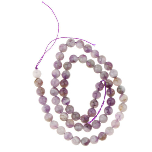 1 Strang Crystal Amethyst Lose Perlen natürliche Runde für Armbänder