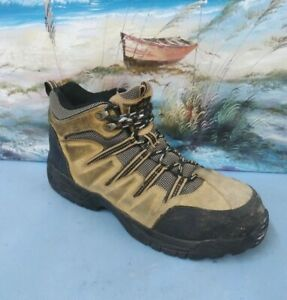 Wrangler-Mens-Steel-Toe-Brown-safety-work-boot-size-10-5-M
