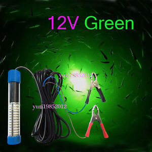 12v led green underwater squid fishing light lure submersible, Reel Combo