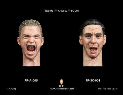 """Facepool 1//6 Mâle Tête Sculpture Modèle Avec Expression FP-A-005 F 12/"""" Action Figure"""