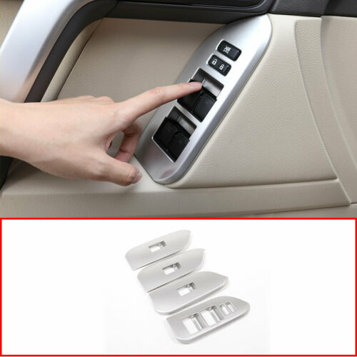 For Toyota Land Cruiser Prado FJ150 Door Window Lift Button Cover Trim 2010-2019