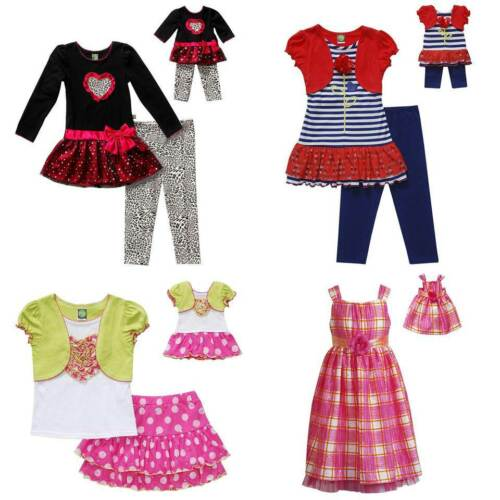 """Dollie /& Me Sz 12 14 14.5 16.5 18.5 20.5 and 18/"""" Doll Matching set American Girl"""