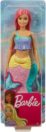 Mattel-Barbie-Mermaid-Doll-with-Pink-Hair-and-Tail-New-Toy-Paper-Doll-Toy