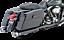 46737 Vance/&Hines Dresser Duals Black For Harley-Davidson FLH//FLT /'07-08