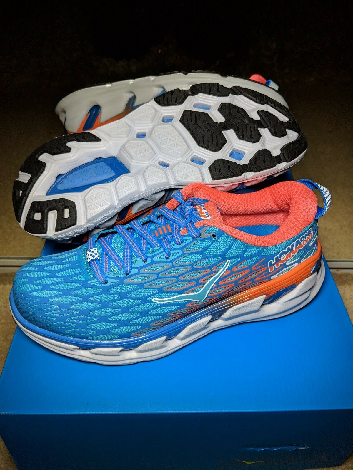 NEW IN BOX HOKA ONE ONE donna 5 VANQUISH VANQUISH VANQUISH 2 FRENCH blu   ACID FREE SHIPPING 4365af