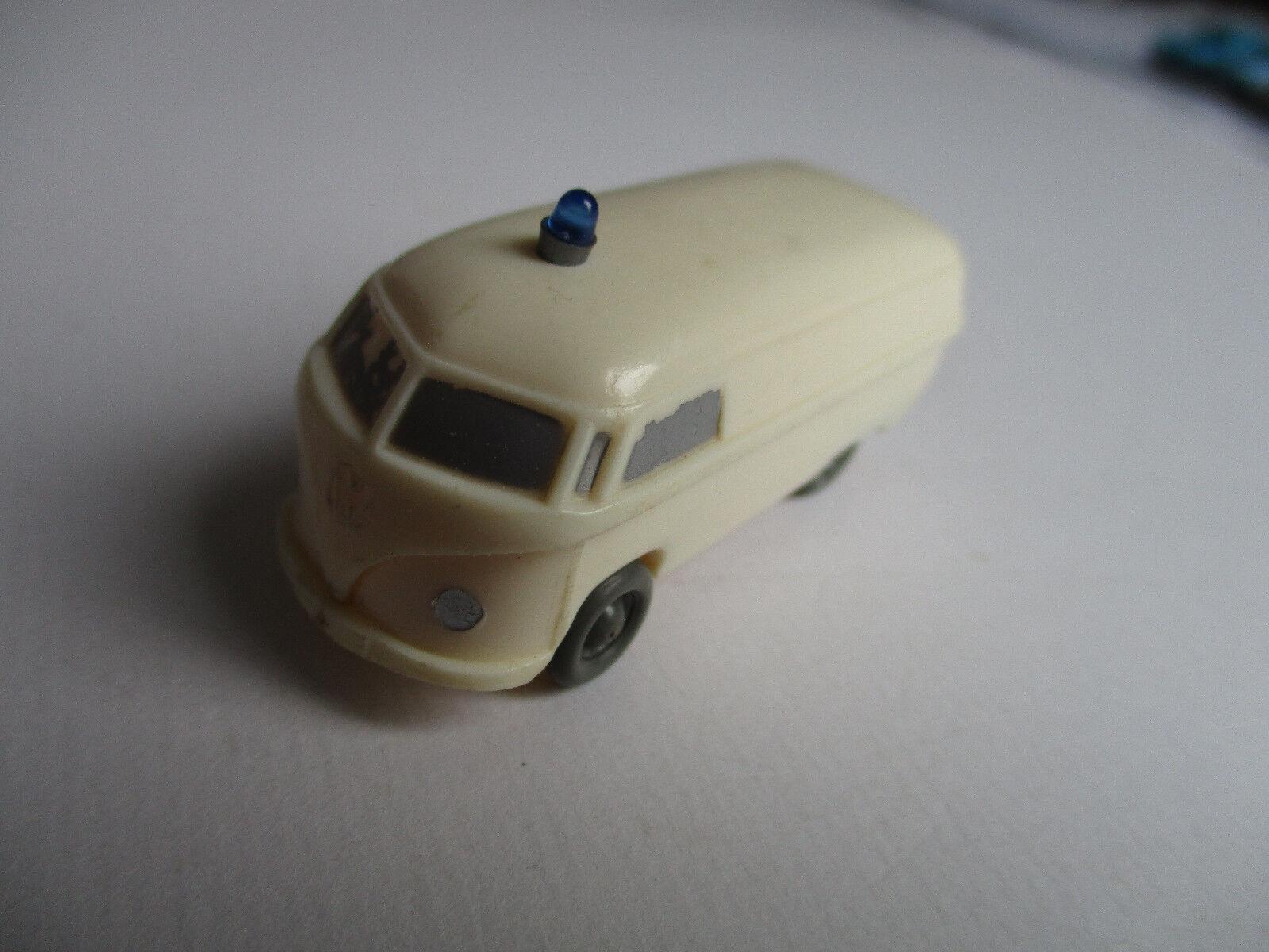 Wiking H0 Vw T T T 1 Kasten Krankenwagen, Typ4, Schablonierung, cremewhite     ea461a