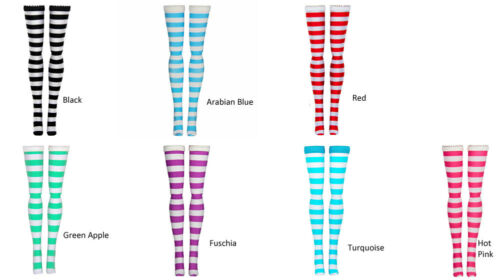 Stripe Doll Stockings for Blythe, Azone Pure Neemo, Chubby, Middie