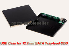 USB 2.0 Slim External Case Enclosure for 12.7mm SATA CD DVD ODD RW Burner Drive