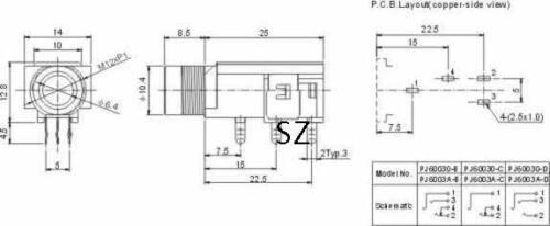 "10PCS 6.35mm Female Socket 1//4/"" Mono Socket Connector Audio Panel Mount"