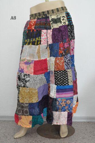 Patchwork Crinkle Rock Gypsy tribal ethno Indien Inde Nepal goa jupe psy skirt