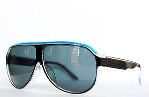 Men's Hip Hop Sunglasses Aviator Round Shape Neon Blue Bar #0: s l300