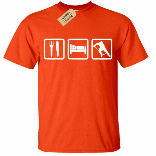 Kinder Jungen Mädchen Eat Sleep Hockey T-Shirt
