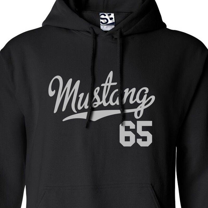 Mustang 65 Script & Tail HOODIE - Hooded 1965 Muscle Car Sweatshirt All Farbes