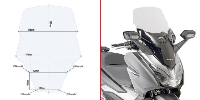 Pare-Brise Givi D1166ST Transparent Honda Force 125-300 (19)