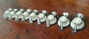 10 Chicken Head Knobs With Set Screw.. White/Black.. JAT CUSTOM GUITAR PARTS