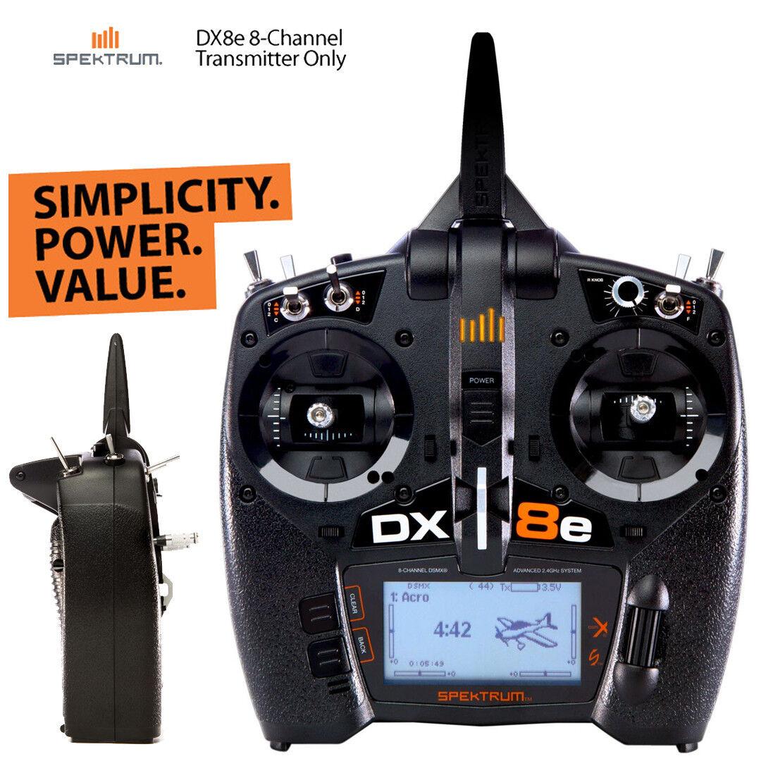 Spektrum SPMR8100 DX8e 8-Channel DSMX Transmitter Only Radio System