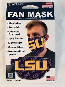 LSU  Wincraft Fan Face Mask  One Size Fits Most Made in the USA