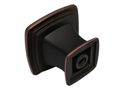 "Dark Oil Rubbed Bronze Kitchen Cabinet square Drawer Knobs 1 1//8/""Pulls 3 3//4/"" 5/"""