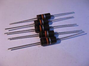 Resistor-2W-10K-10000-Ohm-10-Carbon-Composition-NOS-Qty-5