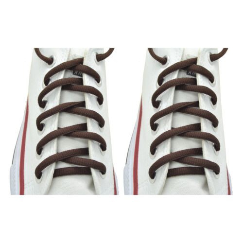 "Oval Sneakers Shoelaces /""Brown/"" 45/"" Athletic Shoelaces 1,2,4,6.12 Pairs"