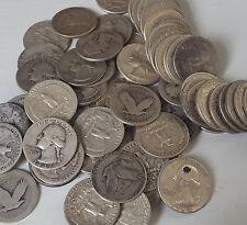 Survival Money 1932-1964 Washington Quarter 90% Silver Circulated 25 Cent Coin