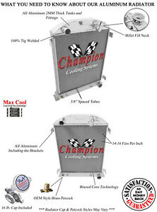 2 Row Ace Champion Radiator for 1932 Ford High Boy Chevy Configuration