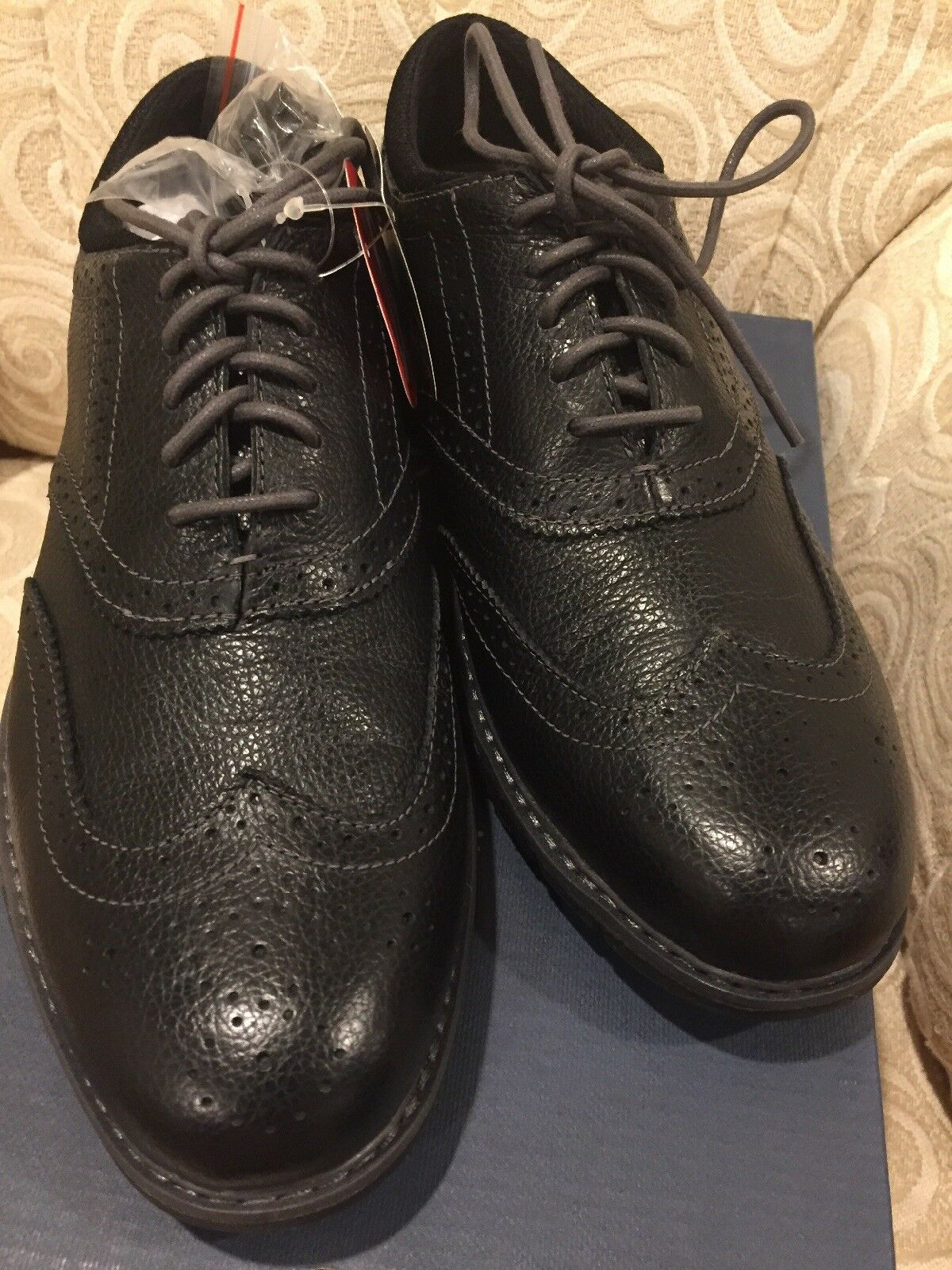 G.H BasS Mens PROPEL WINGTIP Leather CLASSIC  0401-3001  Mens Sz 7M  US BLACK
