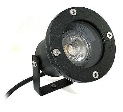 5W Power LED Bodenstrahler Piso IP68 wasserdicht Aussenspot inkl Erdspieß 230V